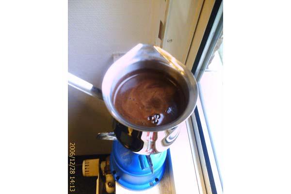 HSmade [making arabic coffee]