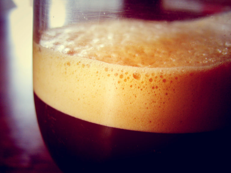 A Coffee in a glass