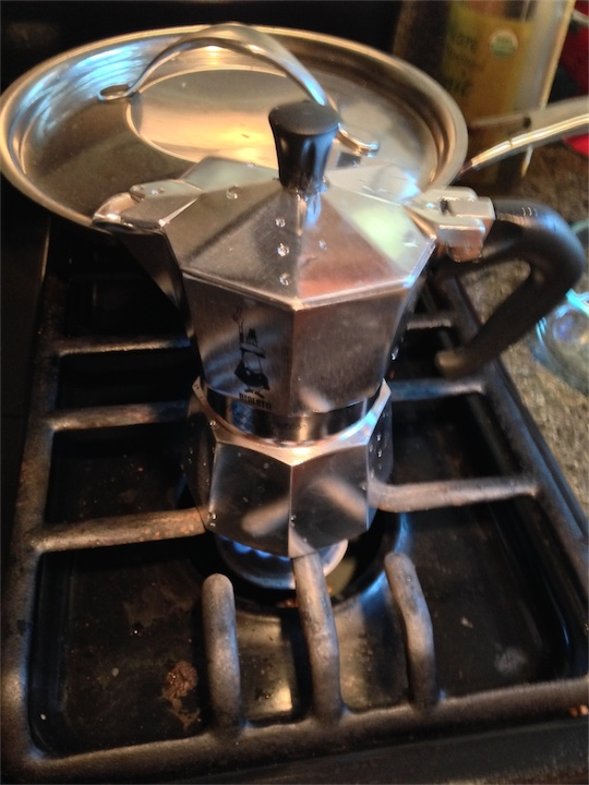 Daria got a new Moka Express for Christmas. She loves it!