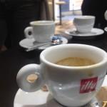 Tre caffè e un cappuccino