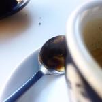 Dettagli sporchi di caffè