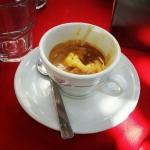Caffè corretto con gelato allo zabaione