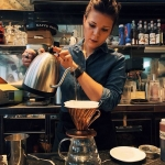 V60 at Pascucci, one of the few places in Milan for a Specialty Coffee