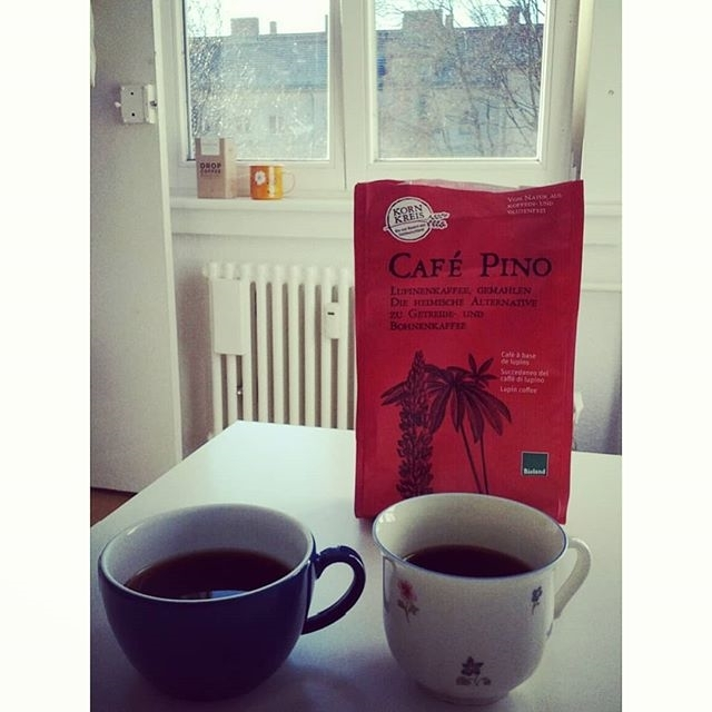 """I've recently discovered, tried and been enjoying ever since, to avoid a daily third cup of the unrivalled real thing, this organic """"coffee"""" made out of lupins. It's delicate and smooth, and a great alternative to malt, also👌🍵