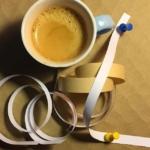 Espresso push pins paper