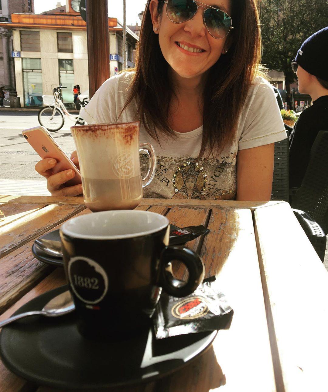 Bei caffè al sole di novembre w/ @mariapiea